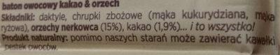 Dobra kaloria - kakao & orzech - Składniki - pl