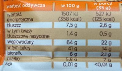 Dobra kaloria - kakao & orzech - Wartości odżywcze - pl