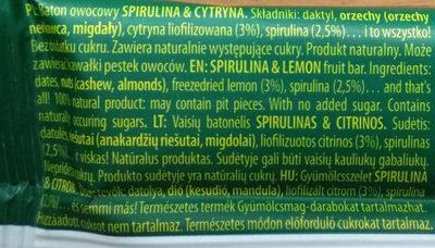 Spirulina&Cytryna - Składniki
