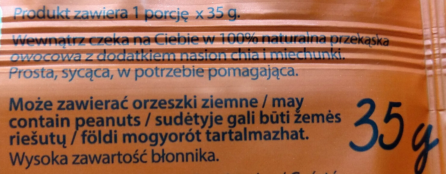 Dobra kaloria Superfoods - miechunka & chia - Składniki - pl