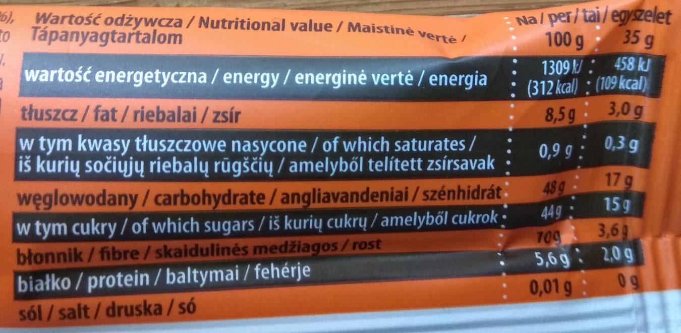 Dobra kaloria Superfoods - miechunka & chia - Wartości odżywcze - pl