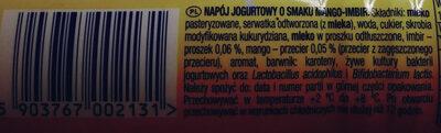 Duet mango-imbir - Składniki