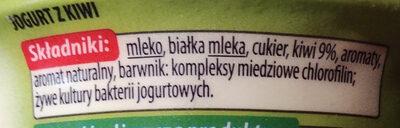 Jogurt z kiwi - Składniki - pl