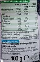 Jogurt pitny o smaku suszonej śliwki 0% tłuszczu. - Wartości odżywcze - pl