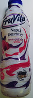 Napój jogurtowy o smaku jagoda - wiśnia. - Produkt