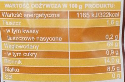 Ekologiczne płatki żytnie - Wartości odżywcze - pl