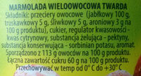 Marmolada wieloowocowa - Składniki - pl