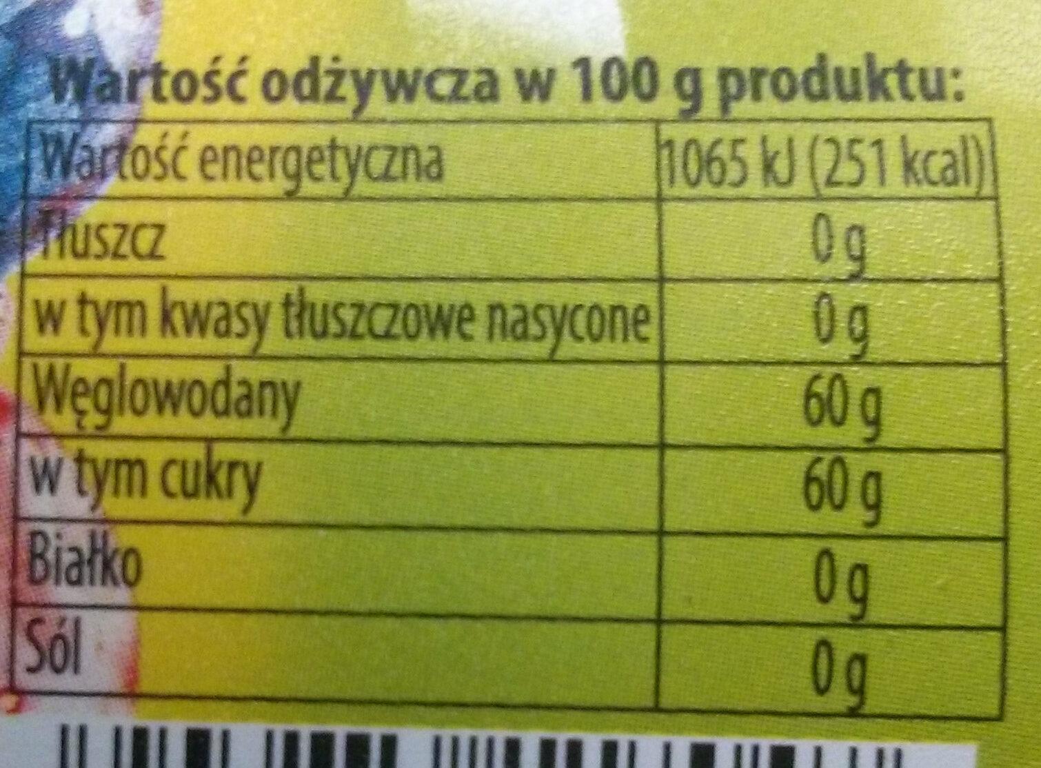 Marmolada wieloowocowa - Wartości odżywcze - pl