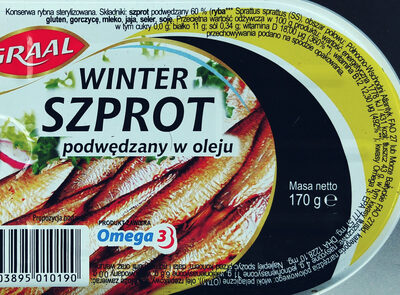 Winter szprot podwędzany w oleju - Wartości odżywcze