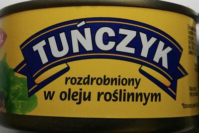 Tuńczyk rozdrobniony w oleju roślinnym. - Produkt