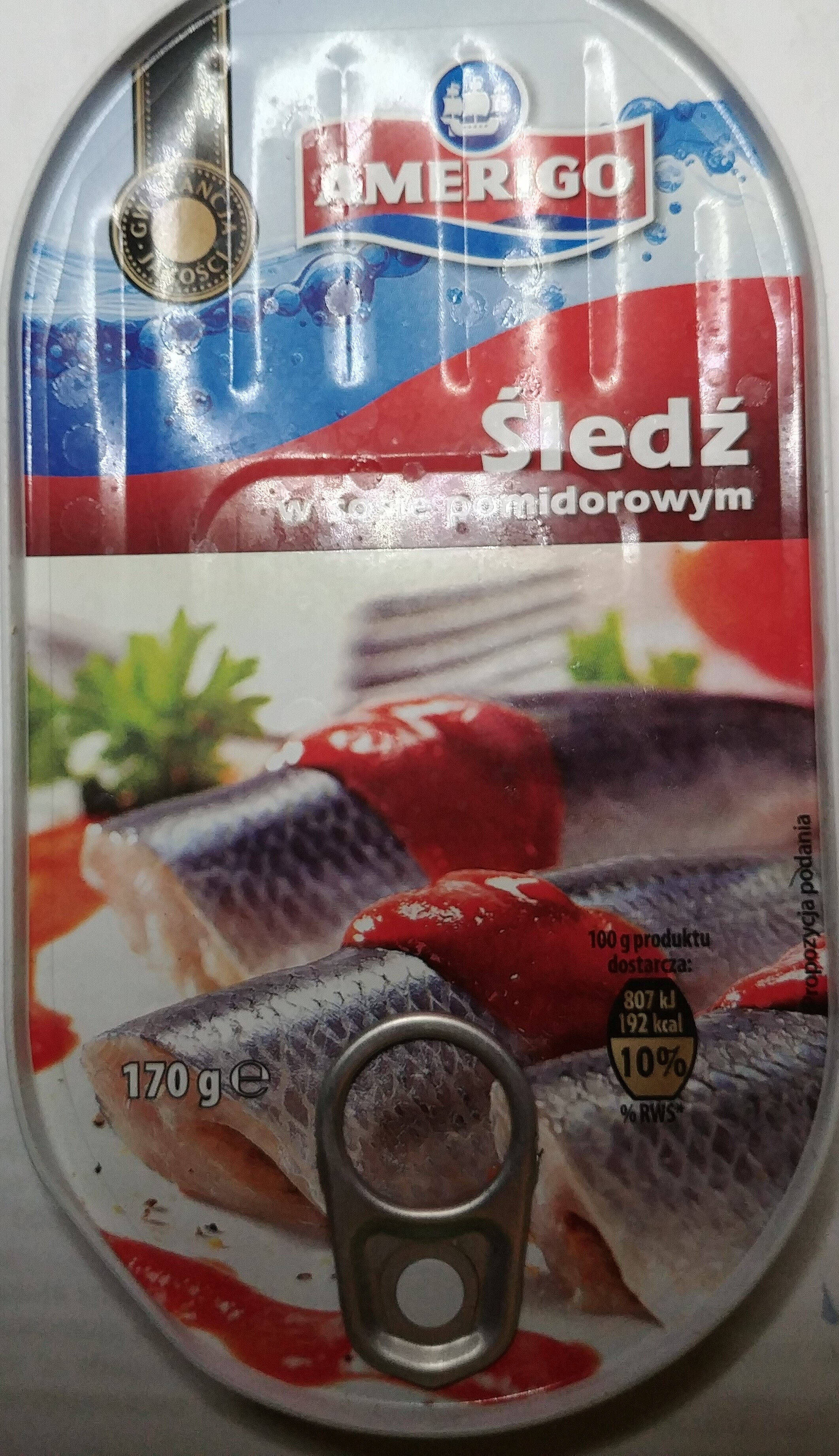 Śledź w sosie pomidorowym - Produkt - pl