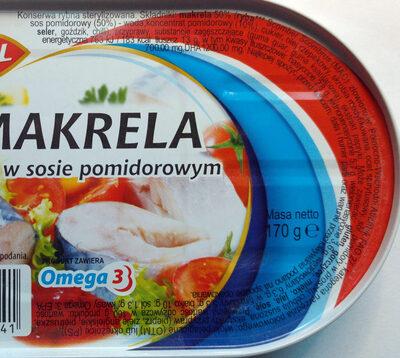 Makrela w sosie pomidorowym. - Składniki