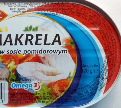 Makrela w sosie pomidorowym. - Wartości odżywcze
