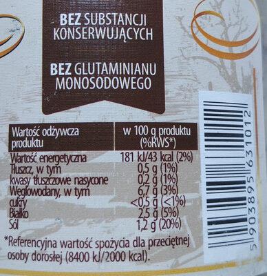 Krupnik z mięsem drobiowym - Informations nutritionnelles - pl