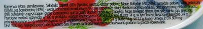 Szprot w pikantnym sosie pomidorowym. - Składniki
