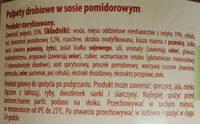 Pulpety drobiowe w sosie pomidorowym - Ingrédients