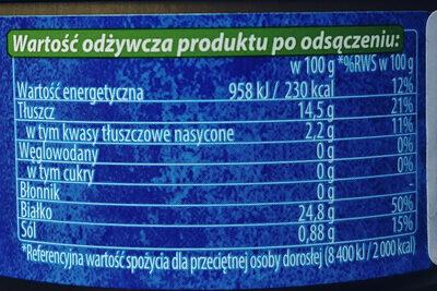 Tuńczyk jednolity w oliwie z oliwek - Nutrition facts - pl