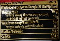 Baton karmelowy z orzechami arachidowymi w mlecznej czekoladzie - Wartości odżywcze - pl
