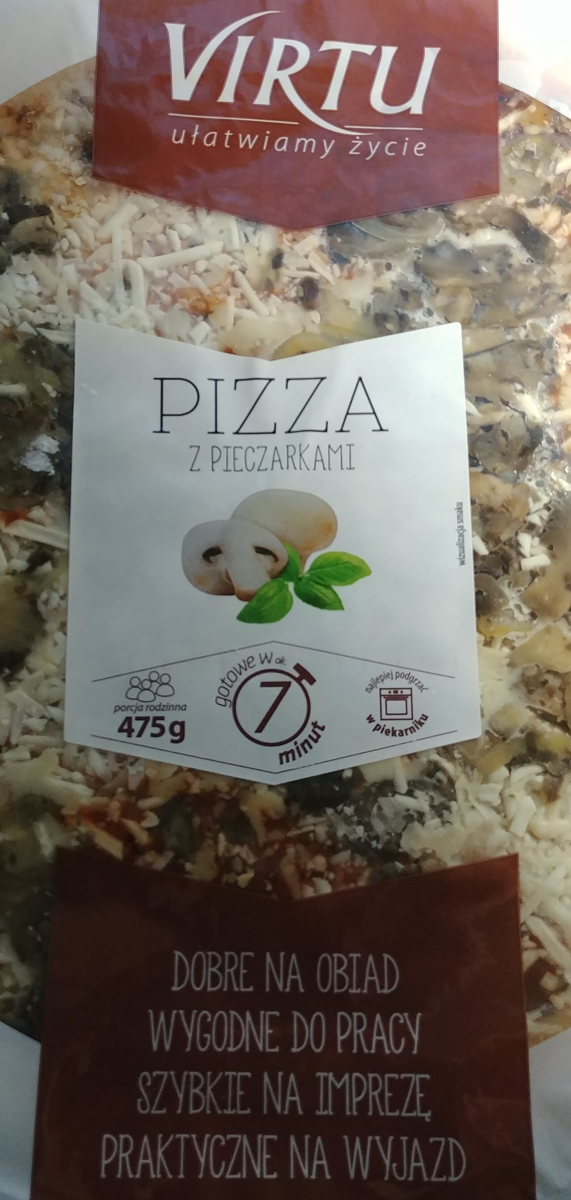 Pizza z pieczarkami - Produkt - pl