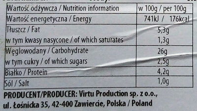 Pierogi z kapustą i grzybami - Wartości odżywcze - pl
