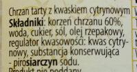 Chrzan Nadwarciański - Składniki - pl