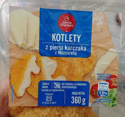 Kotlet z piersi kurczaka z Mozzarellą. - Produkt - pl