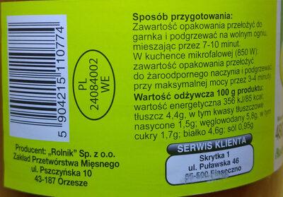 Pulpety w sosie pomidorowym. - Wartości odżywcze - pl