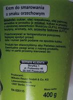 Krem o smaku orzechowym - Ingredients - pl