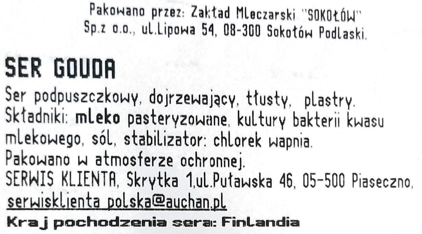 Ser Gouda - Składniki - pl