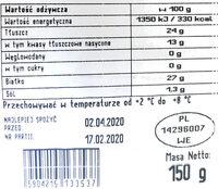 Ser Gouda - Wartości odżywcze - pl