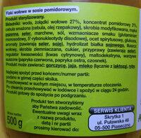 Flaki po zamojski - flaki wołowe w sosie pomidorowym. - Ingrediënten