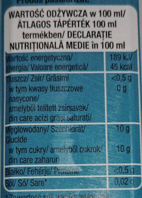 Nektar bananowy - Wartości odżywcze - pl