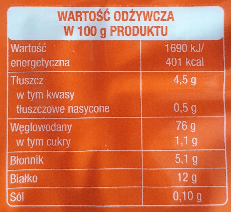 Wafle tortowe suche - Wartości odżywcze - pl