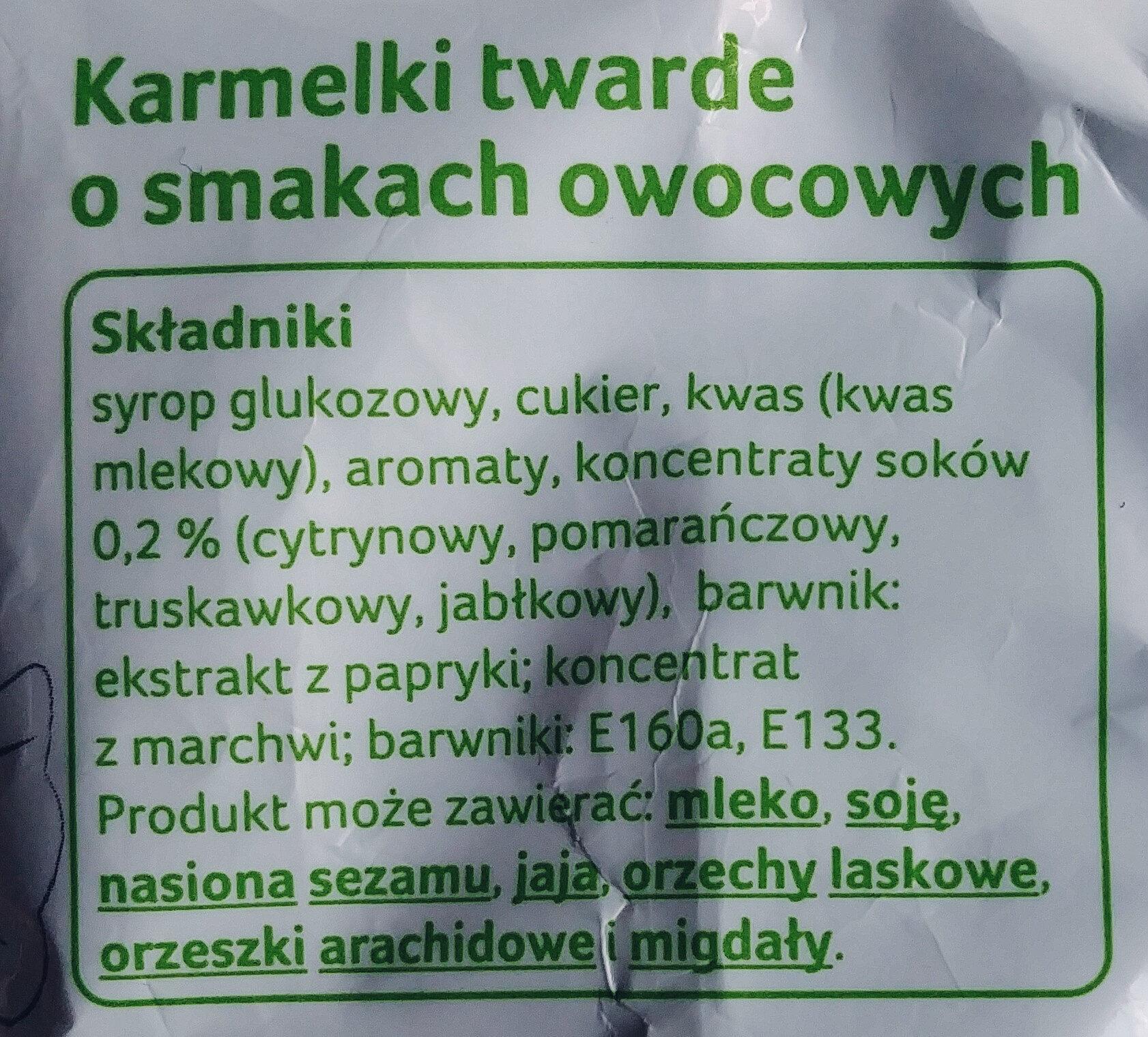 Karmelki o smaku owocowym - Ingredients - pl