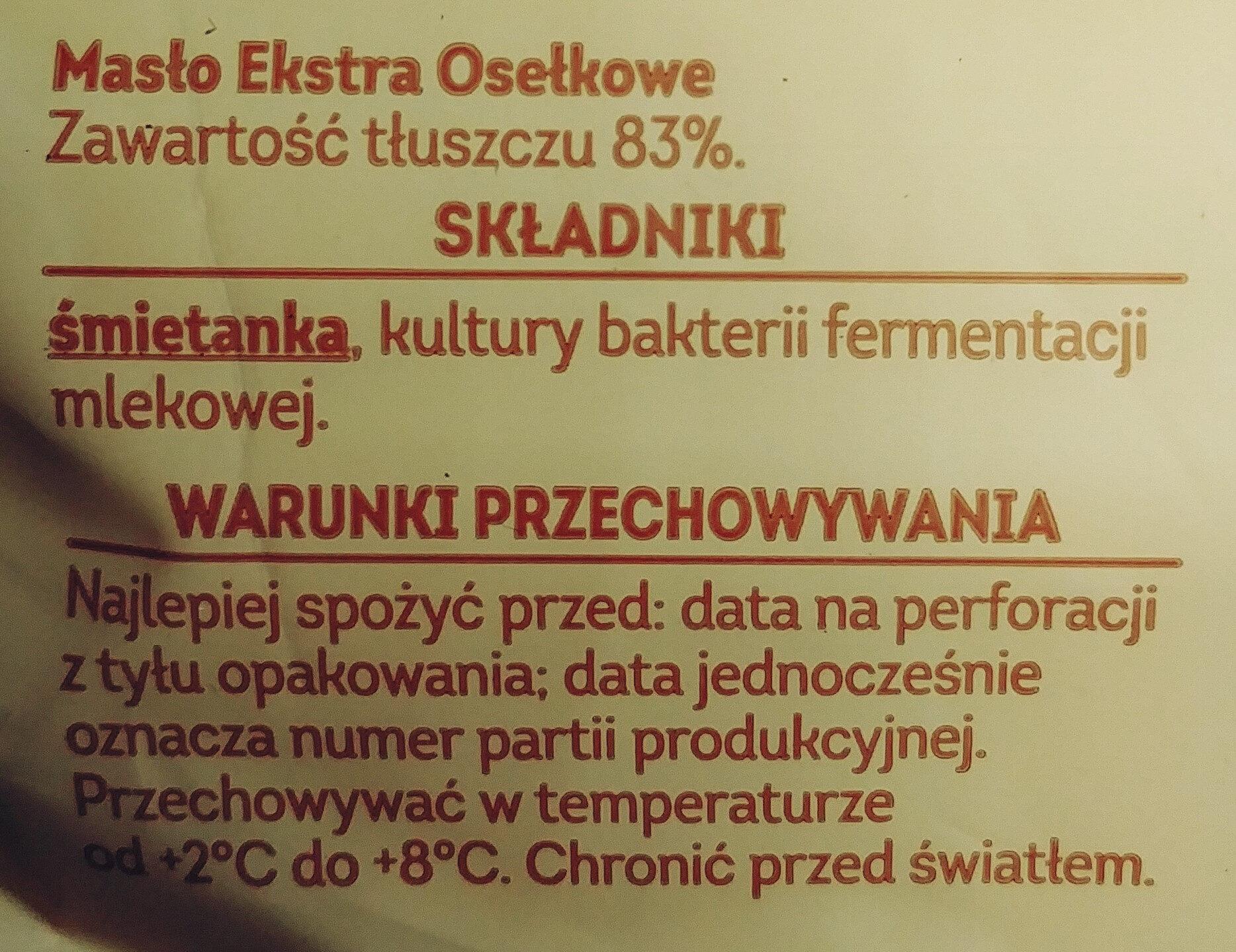 Masło ekstra z Kujaw i ziemi dobrzyńskiej - Składniki - pl