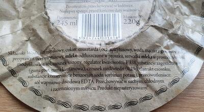 Sos z czosnku niedżwiedziego - Składniki - pl