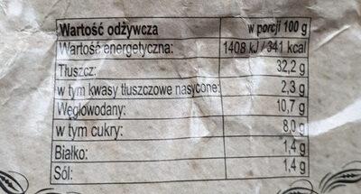 Sos z czosnku niedżwiedziego - Wartości odżywcze - pl