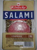 Kiełbasa wieprzowa z dodatkiem mięsa wołowego - Salami z pieprzem - Produkt