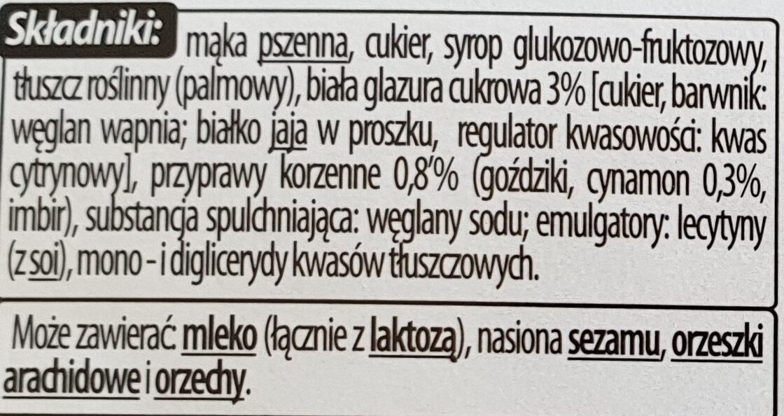 Herbatniki Korzenne - Ingrédients - pl