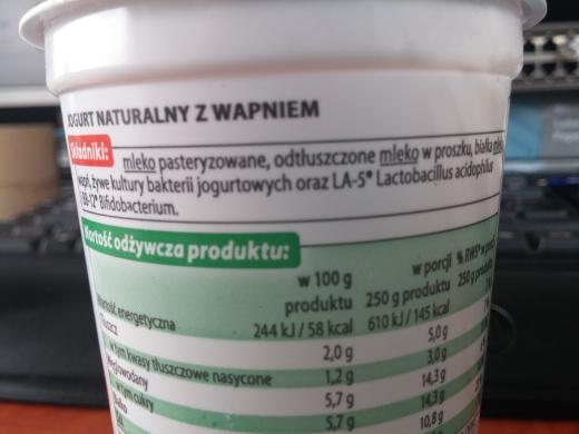 Tola Jogurt Naturalny +wapń - Składniki