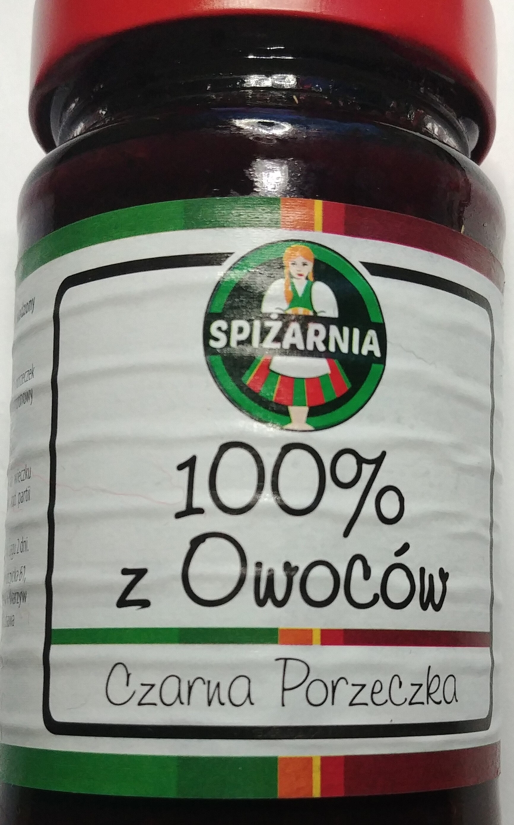 Produkt owocowy z czarnych porzeczek słodzony zagęszczonym sokiem winogronowym - Produkt - pl