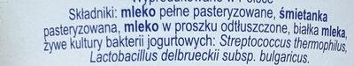 Jogurt Typ Bałkański - Składniki - pl