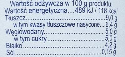 Jogurt Typ Bałkański - Wartości odżywcze - pl