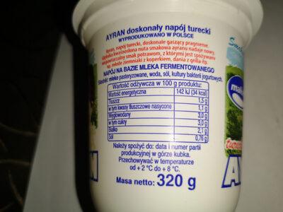 Ayran napój turecki - Nutrition facts