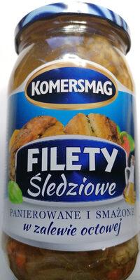Filety śledziowe panierowane i smażone w zalewie octowej. - Product