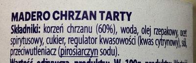Chrzan tarty - Ingrédients - pl