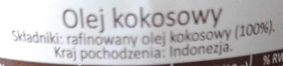 Olej kokosowy - Ingredients - en