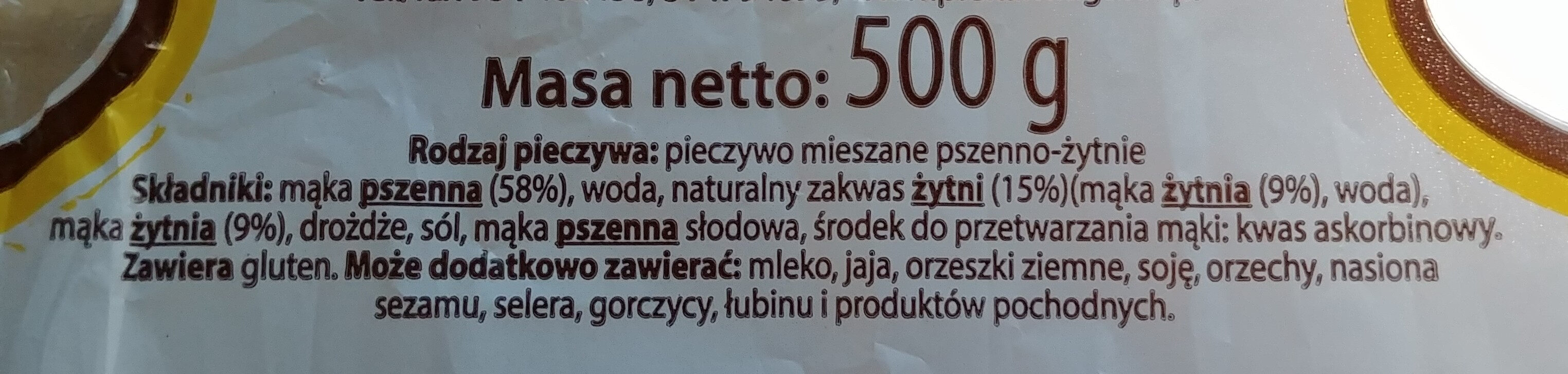 Chleb Baltonowski krojony - Ingredients