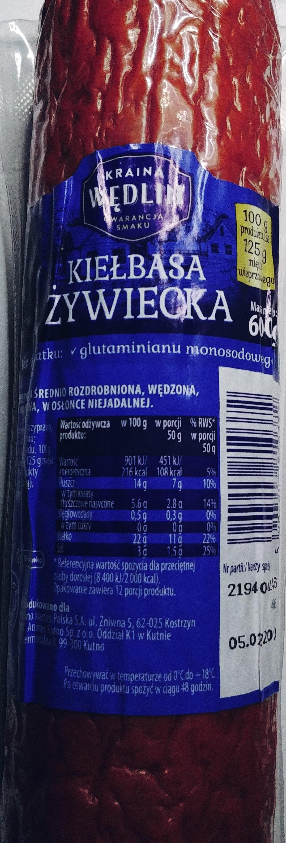 Kiełbasa Żywiecka - Product