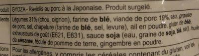 Raviolis de porc à la japonaise - Ingredients - fr